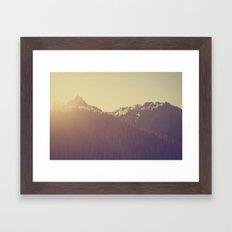 Sunrise over the Mountains Framed Art Print