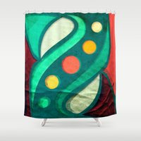 planets Shower Curtains featuring Planets by VessDSign