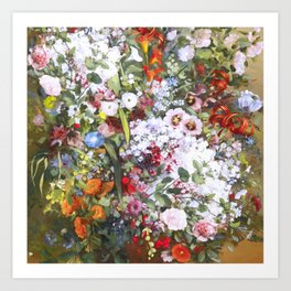 Spring riot of flowers - Courbet inspired Art Print