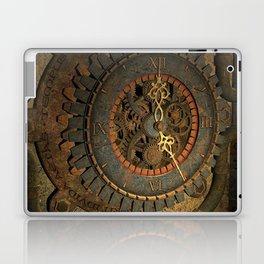 Steampunk, awesome clock, rusty metal Laptop & iPad Skin