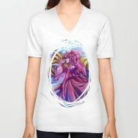 princess bubblegum V-neck T-shirts featuring Her Royal Highness - Princess Bubblegum by Poofette