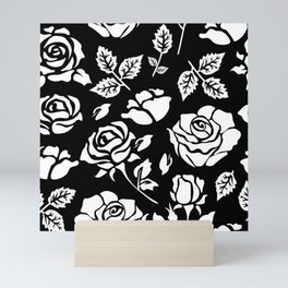 White Rose #illustration #pattern Mini Art Print