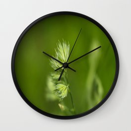 Green Plant Wall Clock