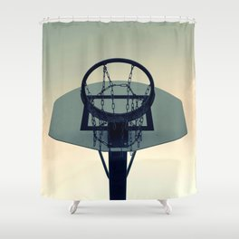 Basketball Sunset Shower Curtain