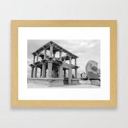 Hampi ruins Framed Art Print