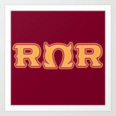 Monster University Fraternity : Roar Omega Roar Art Print