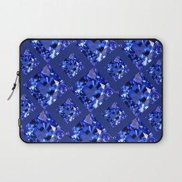 FACETED BLUE ON BLUE SAPPHIRE GEMSTONES Laptop Sleeve