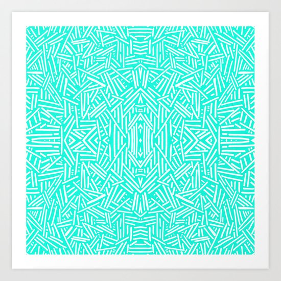 Radiate (Mint) Art Print