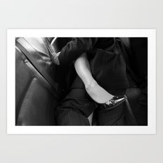 Back seat, windows up Art Print