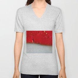 Sandía (rojo y blanco) Unisex V-Neck