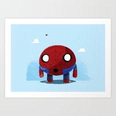 Chubby Web Slinger Art Print