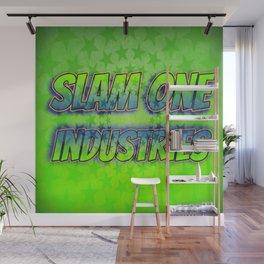 Slam 1 Industries Green Stars Wall Mural