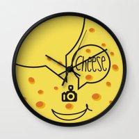 cheese Wall Clocks featuring cheese by creaziz