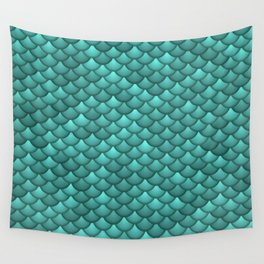 teal scales Wall Tapestry