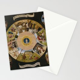The Seven Deadly Sins and the Four Last Things Stationery Cards