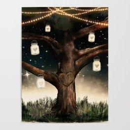 Rustic Mason Jar Tree Poster