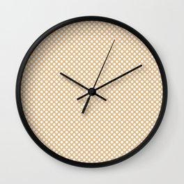 Desert Dust and White Polka Dots Wall Clock