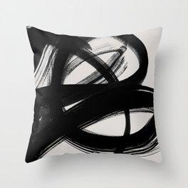 Abstract Brush Strokes 5 Throw Pillow