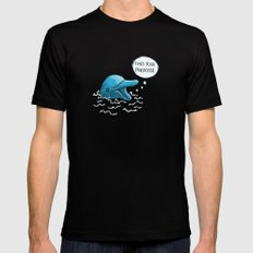 Find Your Porpoise MEDIUM Mens Fitted Tee Black