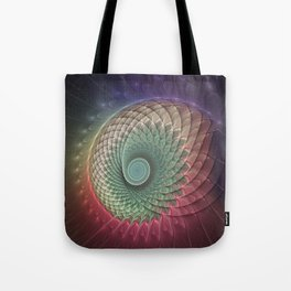Abstract And Colorful Snail, Fractal Art Tote Bag