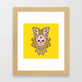 Minimal Skull Framed Art Print