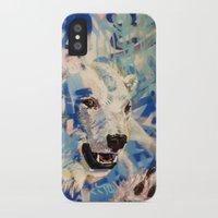polar bear iPhone & iPod Cases featuring Polar Bear by Michael Hammond