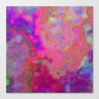 chameleon Canvas Prints featuring chameleon  by Christy Leigh