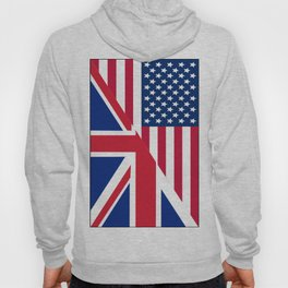 American and Union Jack Flag Hoody