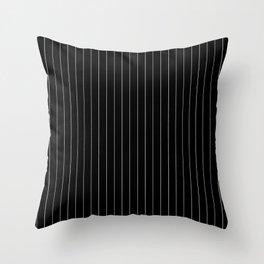 Black White Pinstripes Minimalist Throw Pillow