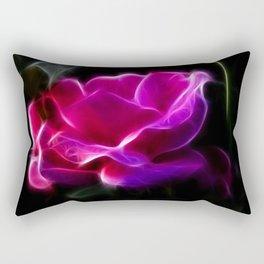 Electric Pink Rose Rectangular Pillow