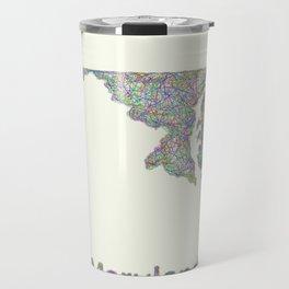 Maryland map Travel Mug