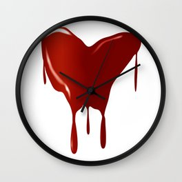 Melting Red Heart Wall Clock