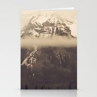 nan lawson Stationery Cards featuring mt. lawson, kananaskis country, alberta by wild strawberry