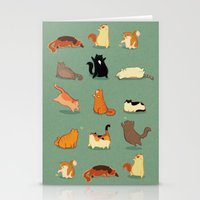 fat Stationery Cards featuring Fat Cats by Kecky