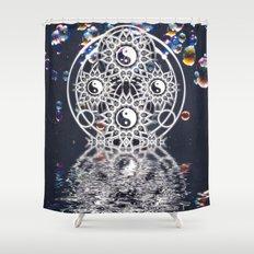 Yin Yang Symmetry Balance Reflection Shower Curtain