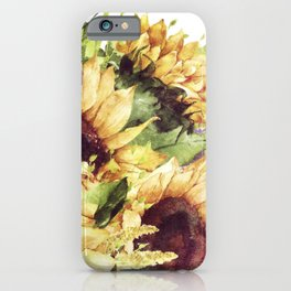 Nature Blooms (Vintage Sunflowers) iPhone Case