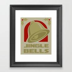 Jingle Bell - Gold Framed Art Print