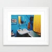 bathroom Framed Art Prints featuring Bathroom by Gabriel Miller Tafra