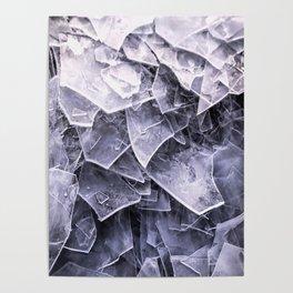 Cracked Ice Tiles In Lake Shore #decor #buyart #society6 Poster
