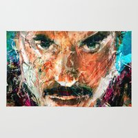 sansa stark Area & Throw Rugs featuring TONY STARK by DITO SUGITO