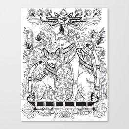 Egyptian Kitties Canvas Print