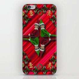Christmas Tree Candy Cane Elf iPhone Skin