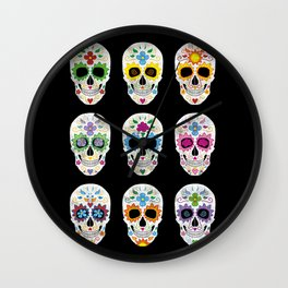 Nine skulls Wall Clock