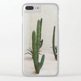 Cabo Cactus VI Clear iPhone Case