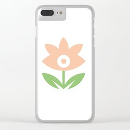 Be my flower girl- Perennial Flower with leaves Clear iPhone Case