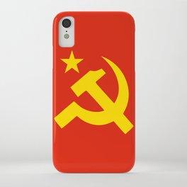 Communist Hammer & Sickle & Star iPhone Case