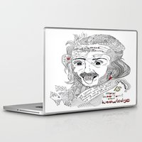 einstein Laptop & iPad Skins featuring Einstein by Ina Spasova puzzle