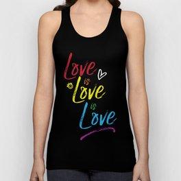 Love is Love is Love Unisex Tank Top
