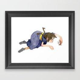 Talking Clock Framed Art Print