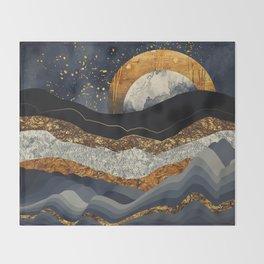 Metallic Mountains Throw Blanket